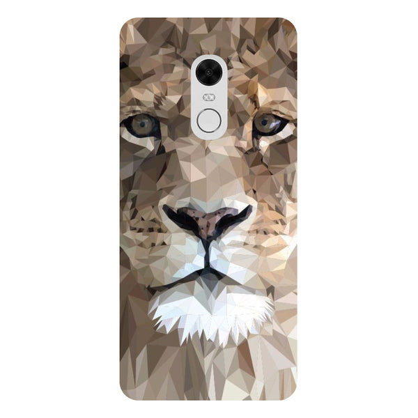 Lion - Printed Hard Back Case Cover for Redmi Note 5