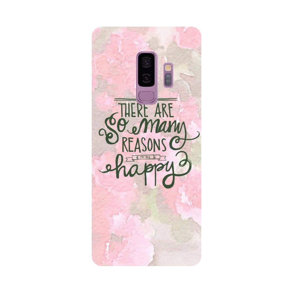 Be Happy- Printed Hard Back Case Cover for Samsung Galaxy S9 Plus-Hamee India