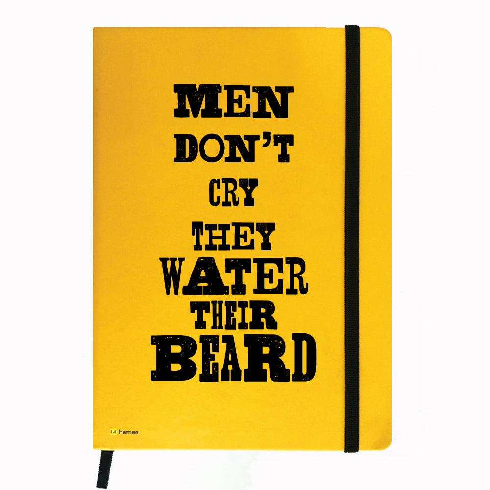 Water The Beard - Yellow Notebook-Hamee India
