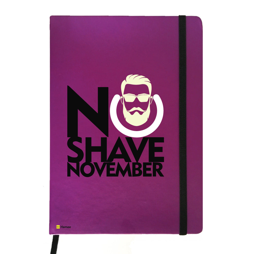 Not Shaving is Cool - Purple Notebook-Hamee India
