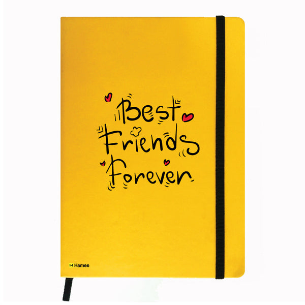 Best Friends Forever - Yellow Notebook-Hamee India