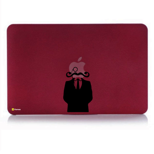 Hamee - The Suited Man With Beard - Matte Finish Slim Fit Shell Case for Apple Macbook Air 13 (Wine Red)