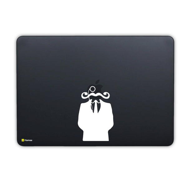 Hamee - The Suited Man With Beard - Matte Finish Slim Fit Shell Case for Apple Macbook Air 13 (Black)