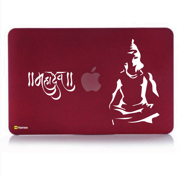 "Hamee - Mahadev - Matte Finish Slim Fit Shell Case for Apple Macbook Air 13"" (Wine Red)-Hamee India"