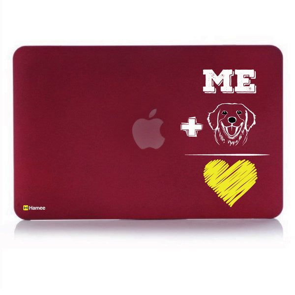 "Dog Love Wine Red MacBook Air 13"" Cover-Hamee India"