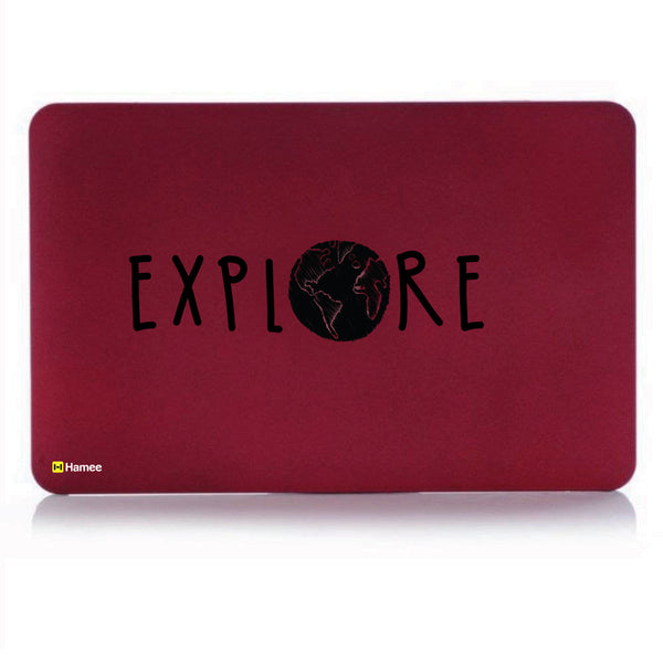 "Explore Wine Red MacBook Air 13"" Cover-Hamee India"