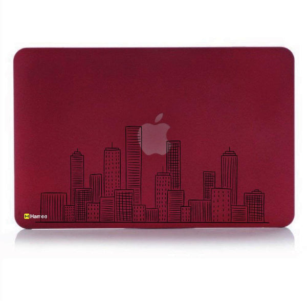 City MacBook Pro 13 Cover (2016) (A1706/A1708) (Wine Red)-Hamee India
