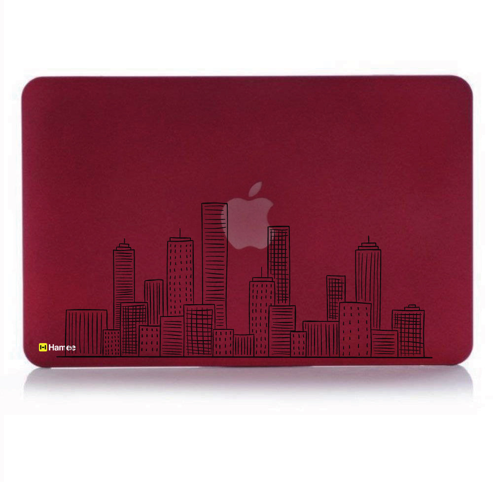 "City Wine Red MacBook Air 13"" Cover-Hamee India"