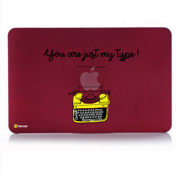 "My Type Wine Red MacBook Air 13"" Cover-Hamee India"