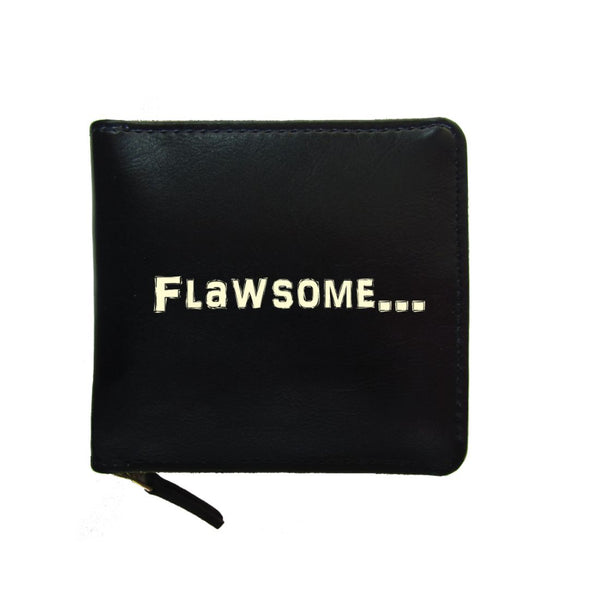 PU Leather Black Zip Wallet- Flawsome-Hamee India