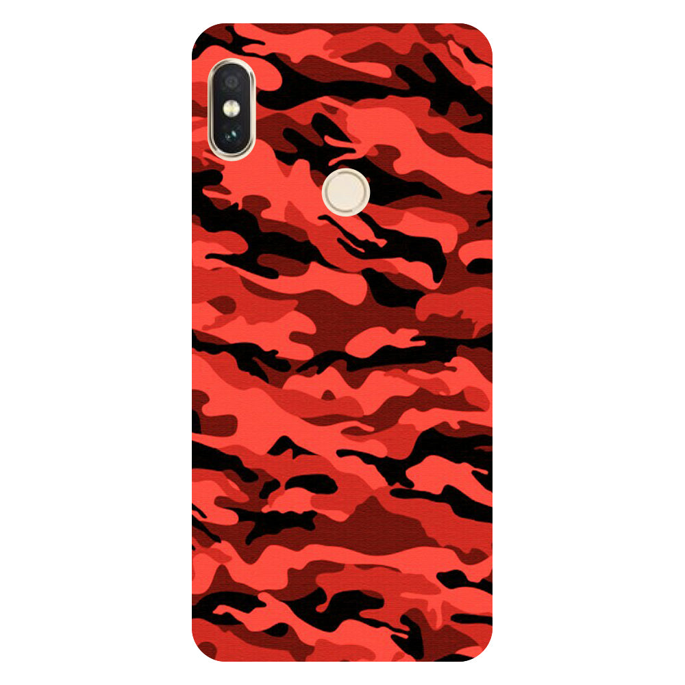 detailed look ccfc5 14140 Red Army/ Camouflage Redmi Note 5 Pro Back Cover