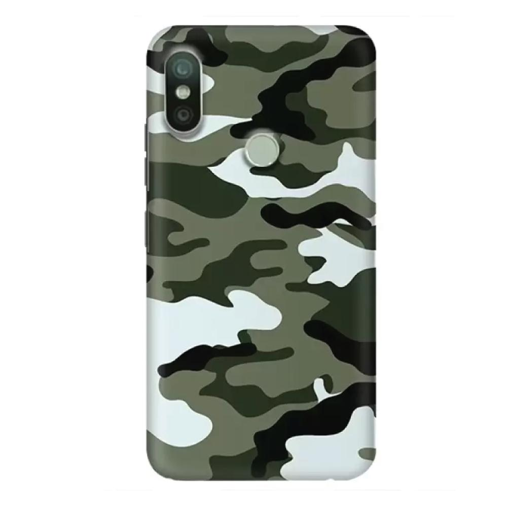 1a75dee15 Army Camouflage Printed Hard Back Case Cover for Redmi 6 Pro