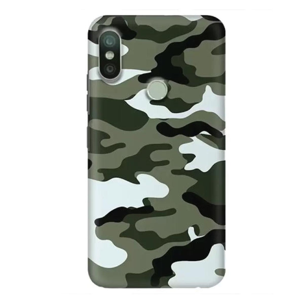 Army/Camouflage Redmi 6 Pro Back Cover-Hamee India