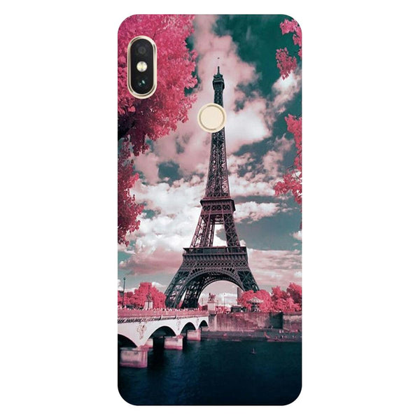Eiffel Tower with Clouds Redmi 6 Pro Back Cover-Hamee India