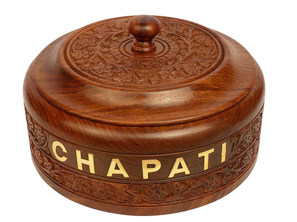 Wooden Chapati Casserole Box-Hamee India
