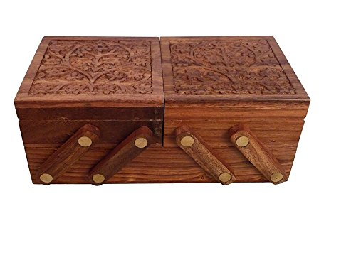 Wooden Folding Layered Jewelry Box-Hamee India