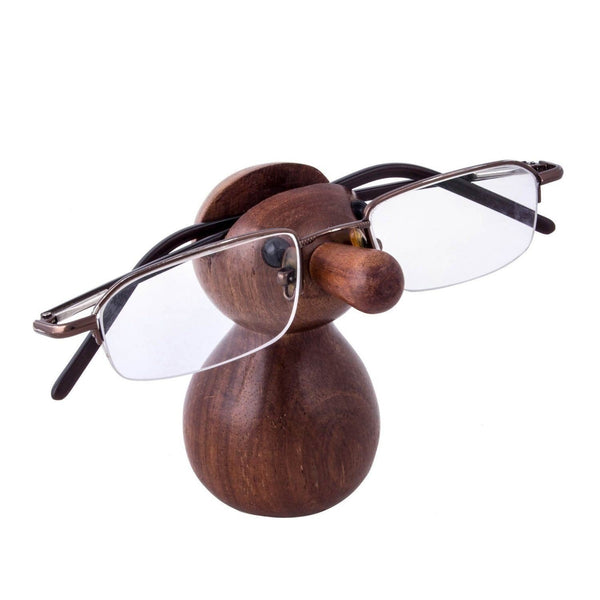 Classic Vintage Type Wooden Eyeglass Holder-Hamee India