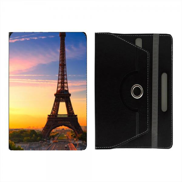 "Hamee Black Leather Rotating Flip Case for Kindle E-Reader (6"") - Design 102"