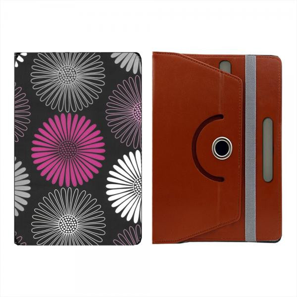 "Hamee Black Leather Rotating Flip Case for Kindle E-Reader (6"") - Design 1005"
