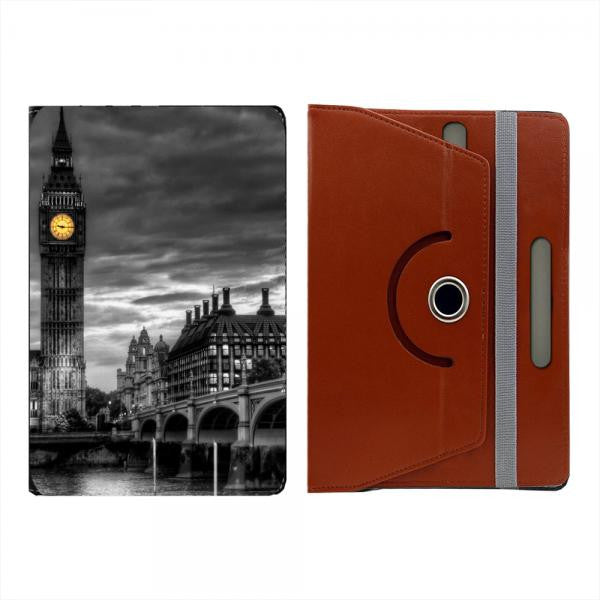 "Hamee Black Leather Rotating Flip Case for Kindle E-Reader (6"") - Design 1017"