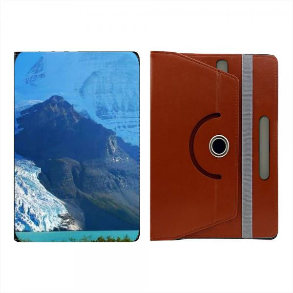 Hamee Brown Leather Rotating Flip Case for Kindle Voyage - Design 470