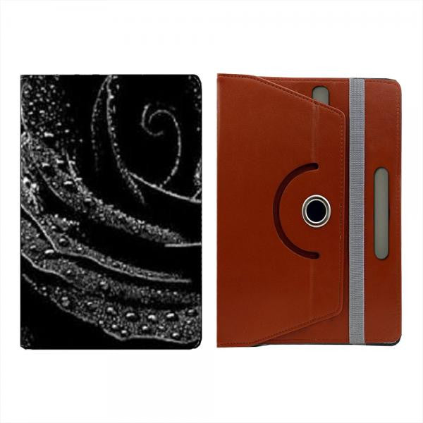 Hamee Brown Leather Rotating Flip Case for Kindle Voyage - Design 505