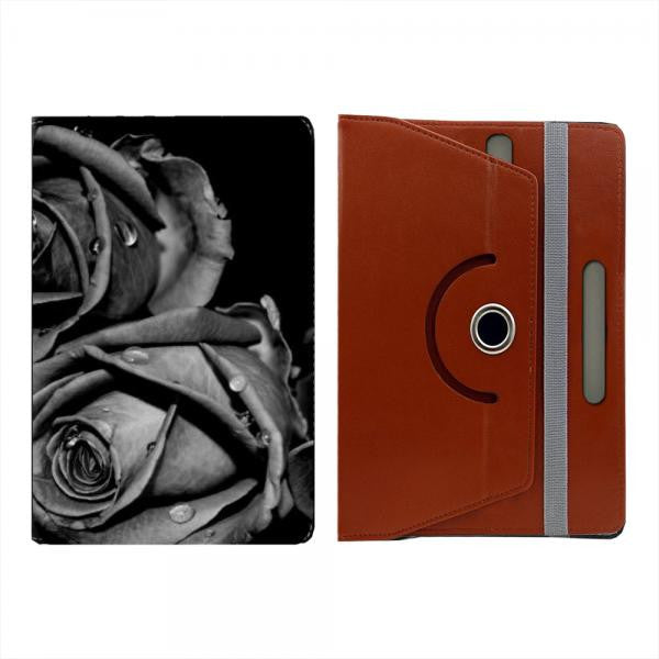 Hamee Brown Leather Rotating Flip Case for Kindle Voyage - Design 506