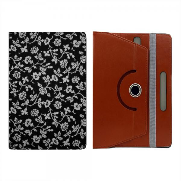 Hamee Brown Leather Rotating Flip Case for Kindle Voyage - Design 507