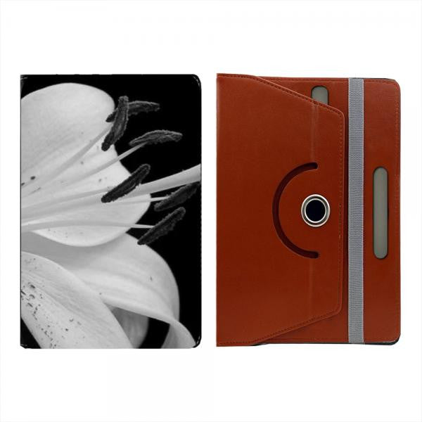 Hamee Brown Leather Rotating Flip Case for Kindle Voyage - Design 508