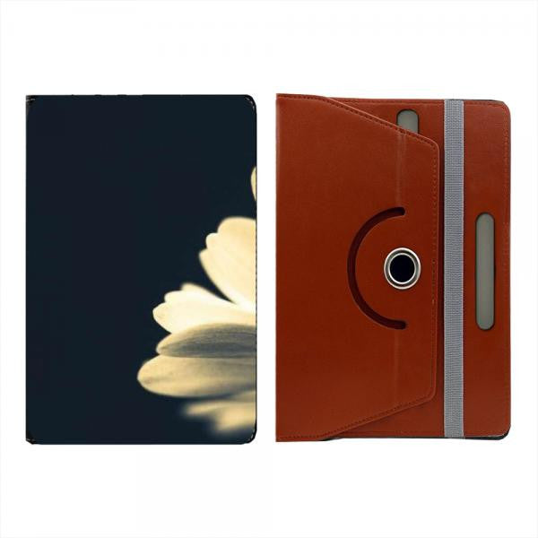Hamee Brown Leather Rotating Flip Case for Kindle Voyage - Design 513