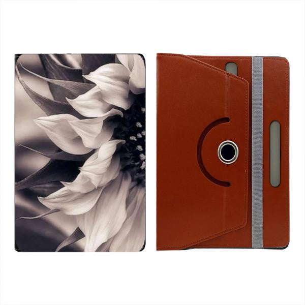 Hamee Brown Leather Rotating Flip Case for Kindle Voyage - Design 514