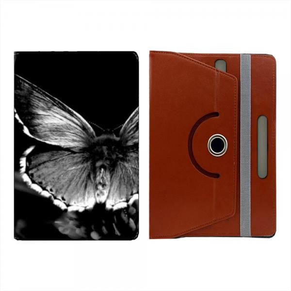 Hamee Brown Leather Rotating Flip Case for Kindle Voyage - Design 515