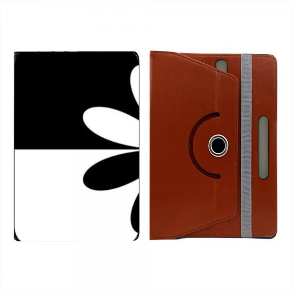 Hamee Brown Leather Rotating Flip Case for Kindle Voyage - Design 517