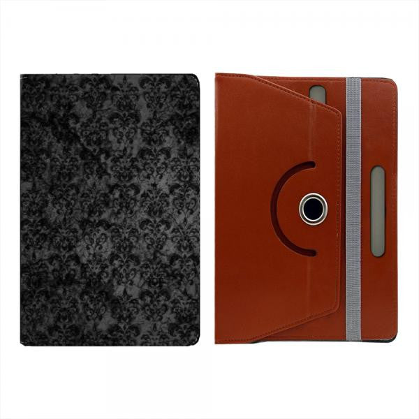 Hamee Brown Leather Rotating Flip Case for Kindle Voyage - Design 519