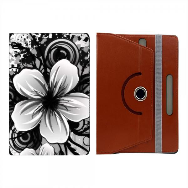 Hamee Brown Leather Rotating Flip Case for Kindle Voyage - Design 520