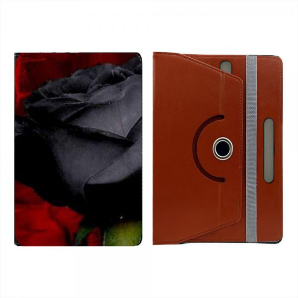 Hamee Brown Leather Rotating Flip Case for Kindle Voyage - Design 521