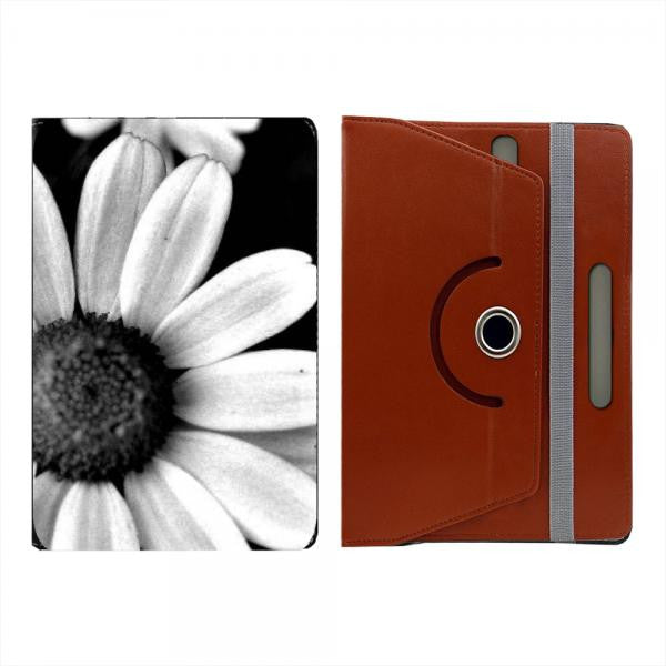 Hamee Brown Leather Rotating Flip Case for Kindle Voyage - Design 523
