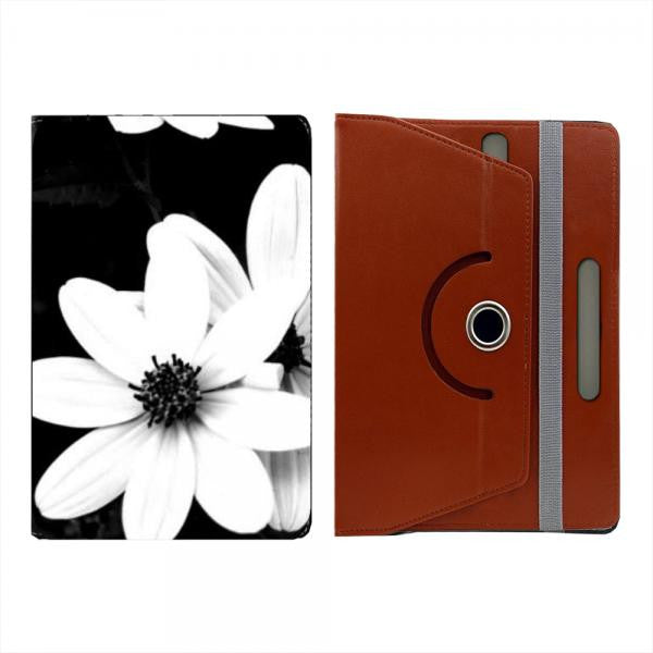 Hamee Brown Leather Rotating Flip Case for Kindle Voyage - Design 525