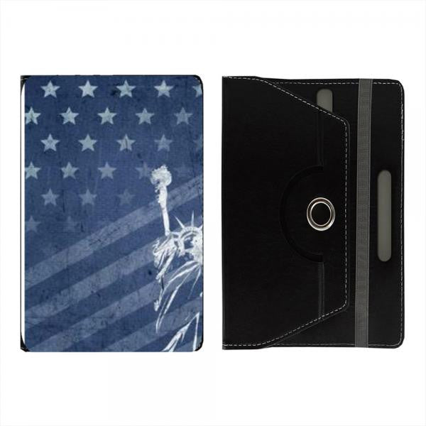 Hamee Black Leather Rotating Flip Case for Kindle Voyage - Design 32