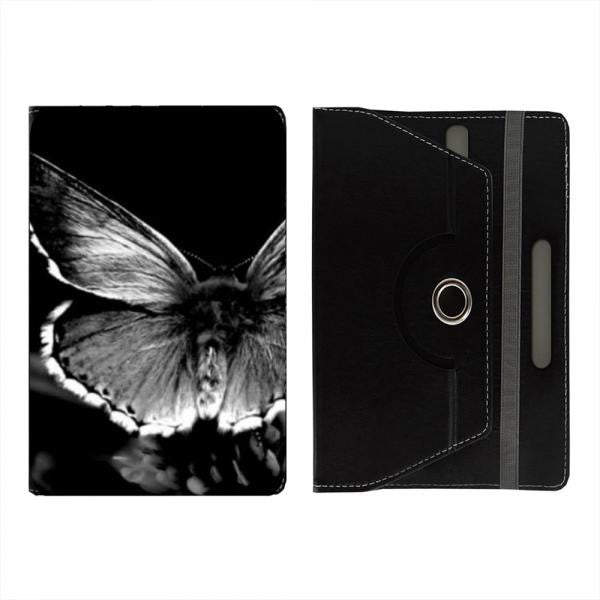 Hamee Black Leather Rotating Flip Case for Kindle Voyage - Design 515