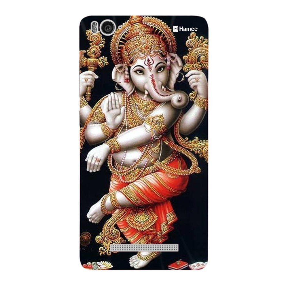 Hamee Standing Ganesha Designer Cover For Xiaomi Redmi 3-Hamee India