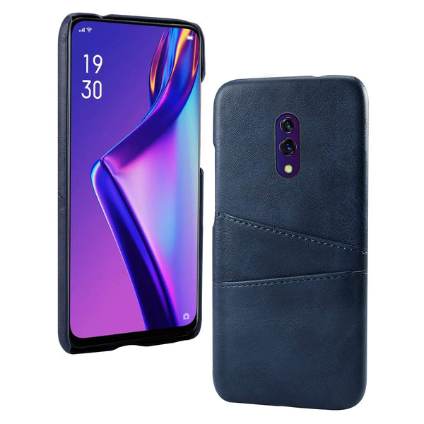 PU Leather Card Pocket Back Cover for Oppo K3 (Blue)