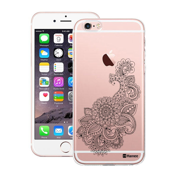Hamee Black Henna Pattern Designer Cover For Apple iPhone 6 Plus / 6S Plus - Hamee India