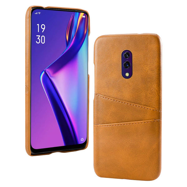 PU Leather Card Pocket Back Cover for Oppo K3 (Tan)