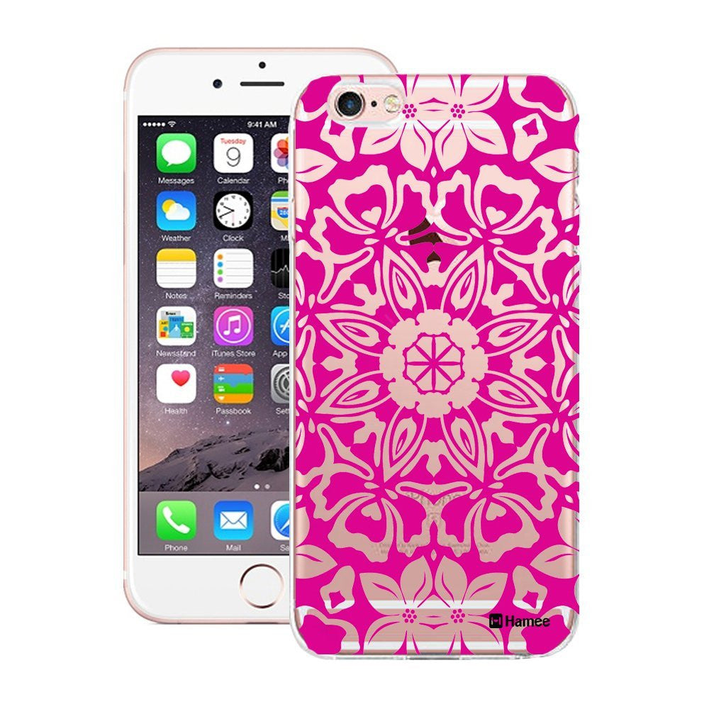 Hamee Pink Clear Floral Kaleidoscope Designer Cover For Apple iPhone 6 / 6S - Hamee India
