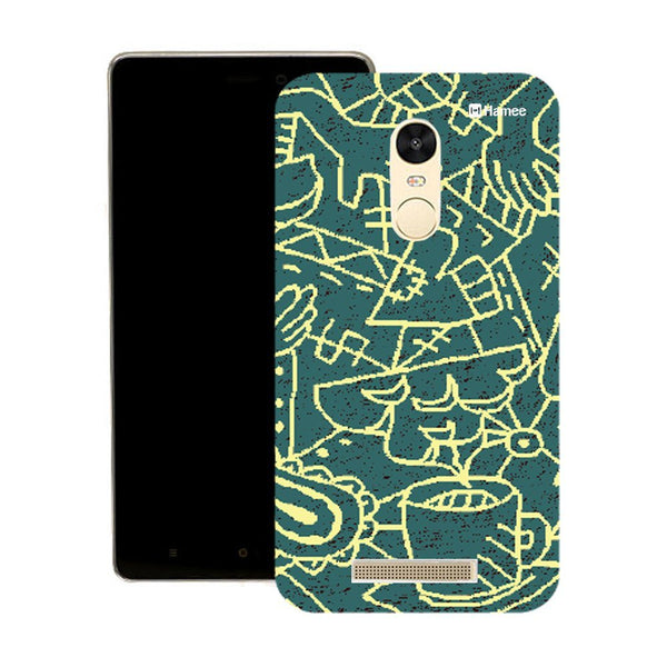 Hamee Abstract Blue White Designer Cover For Motorola Moto X Play - Hamee India