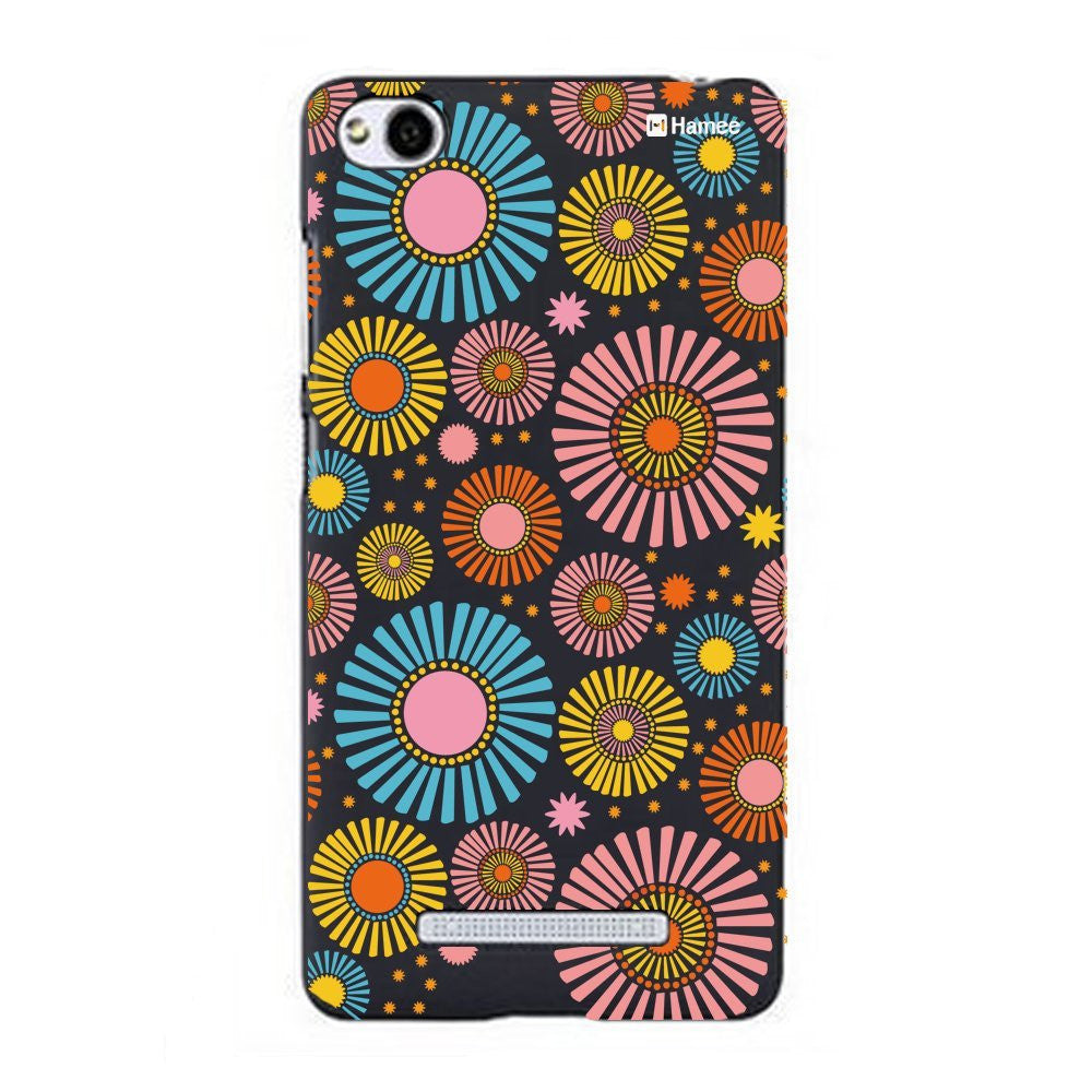 Hamee Multicolour Flower Bloom Designer Cover For Xiaomi Redmi 3-Hamee India