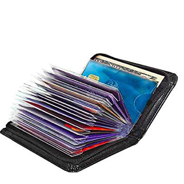 Zip Card Holder with Sleeves-Hamee India