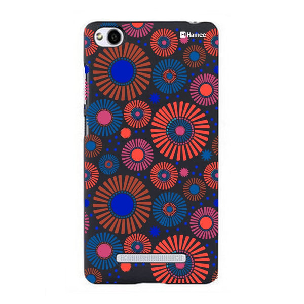 Hamee Blue Red Flower Bloom Designer Cover For Xiaomi Redmi 3-Hamee India