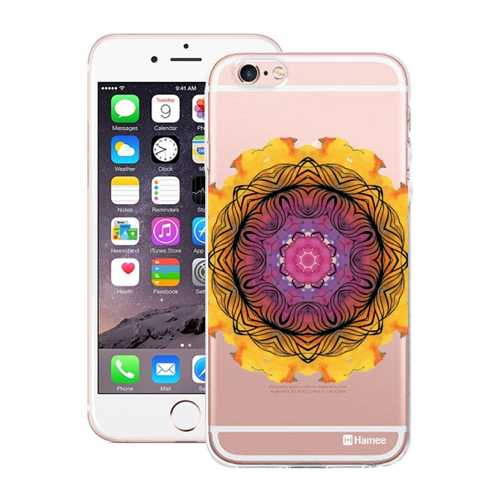 Hamee Yellow Purple Kaleidoscope Designer Cover For Apple iPhone 6 / 6S - Hamee India